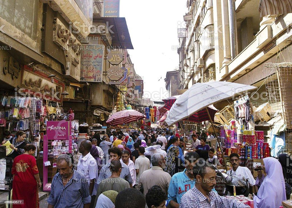 Khan El Khalili bazaar in Cairo royalty-free stock photo