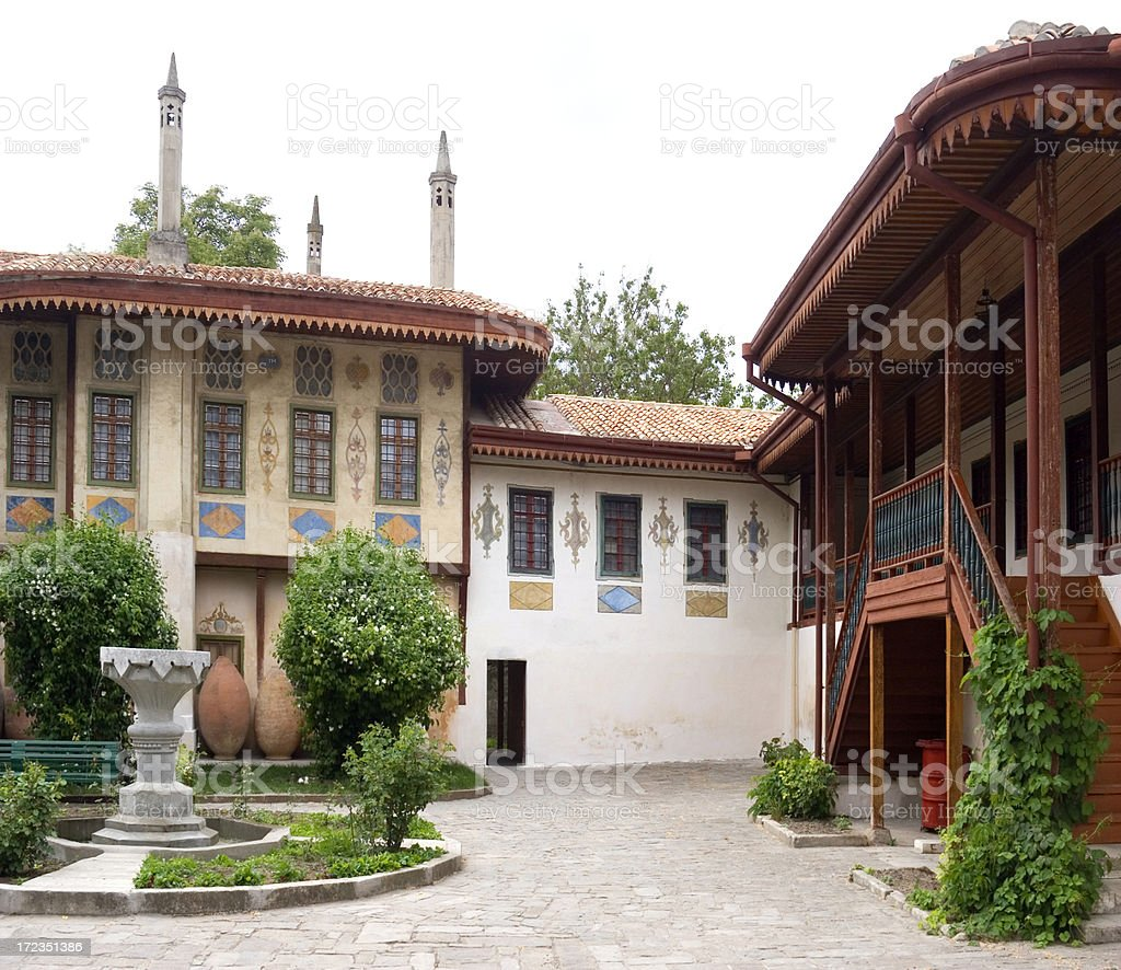 Khan's Palace, Bakhchisarai, Ucrania foto de stock libre de derechos