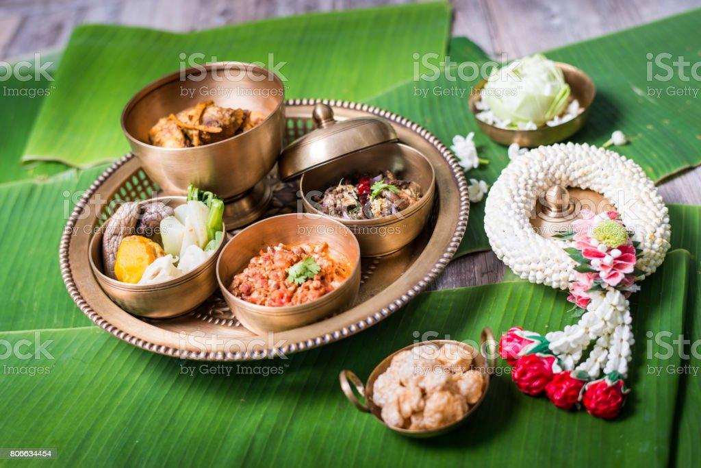 Khantok foods stock photo