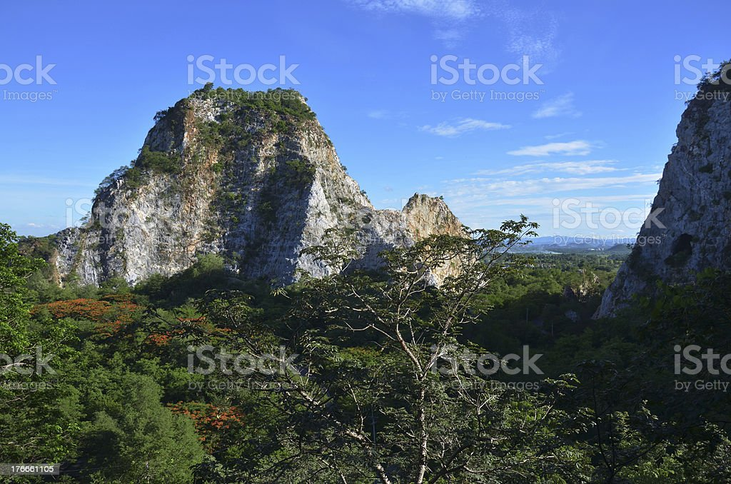 Khao Ngoo Rock Park Ratchaburi Thailand royalty-free stock photo