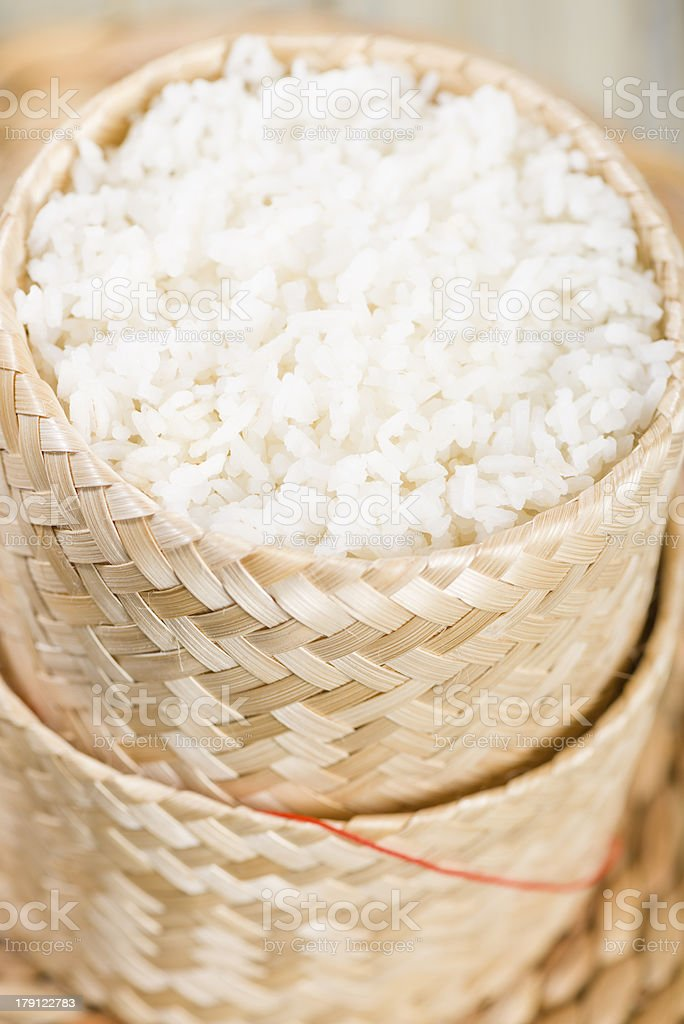 Khao Niao -  ข้าวเหนียว /  ເຂົ້າໜຽວ stock photo