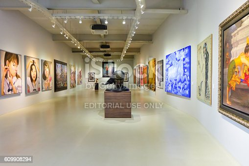Nakhon Ratchasima, Thailand - August 1, 2016: Khao Yai Art Museum, Museum art collection of paintings and sculptures, Open to visitors free of charge at all.