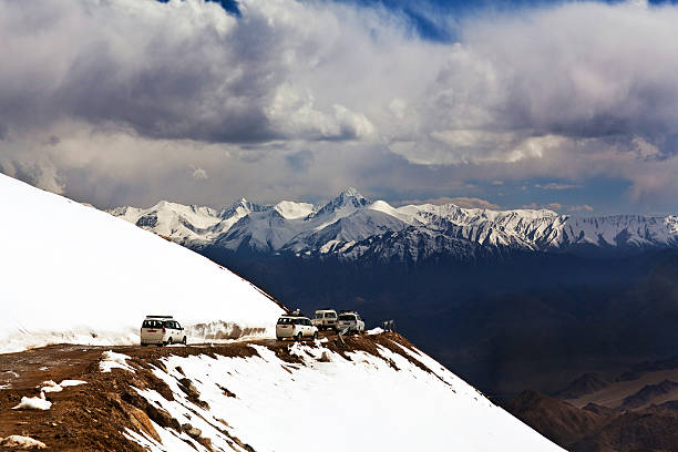Khardung La pass, India stock photo