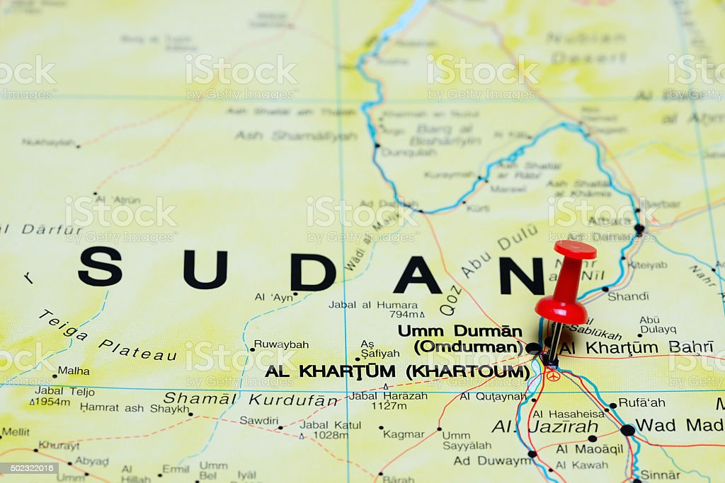 Khartoum Pinned On A Map Of Africa Stock Photo More Pictures Of