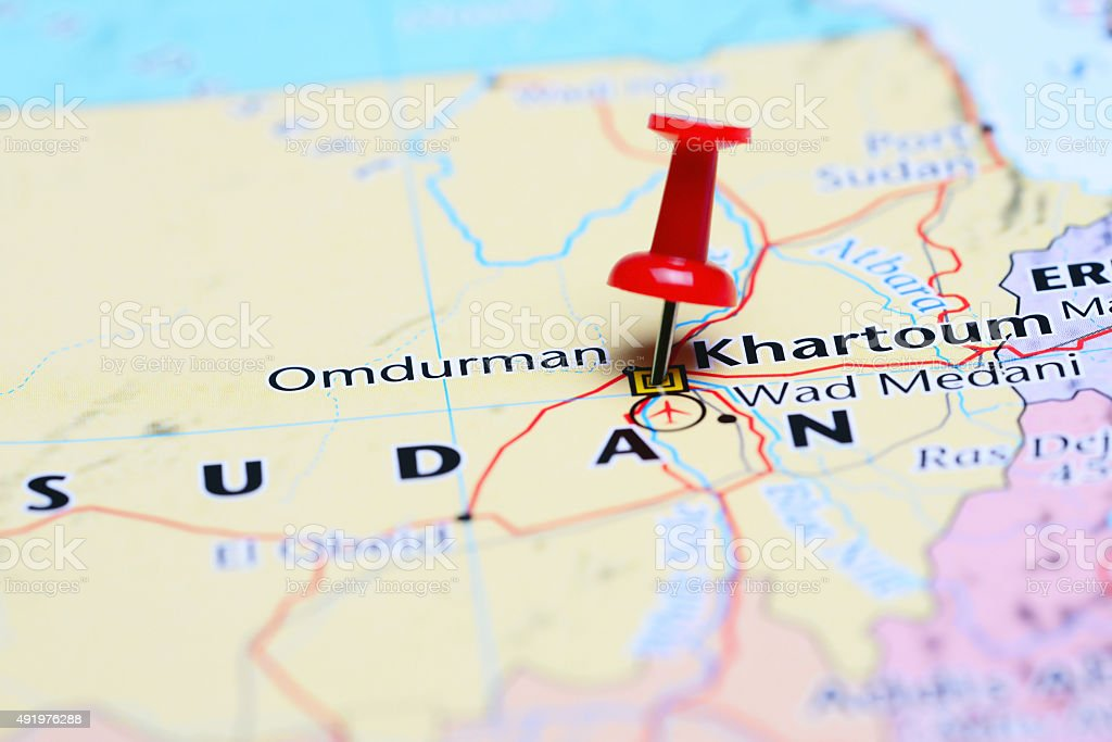 Khartoum Pinned On A Map Of Asia Stock Photo More Pictures Of 2015