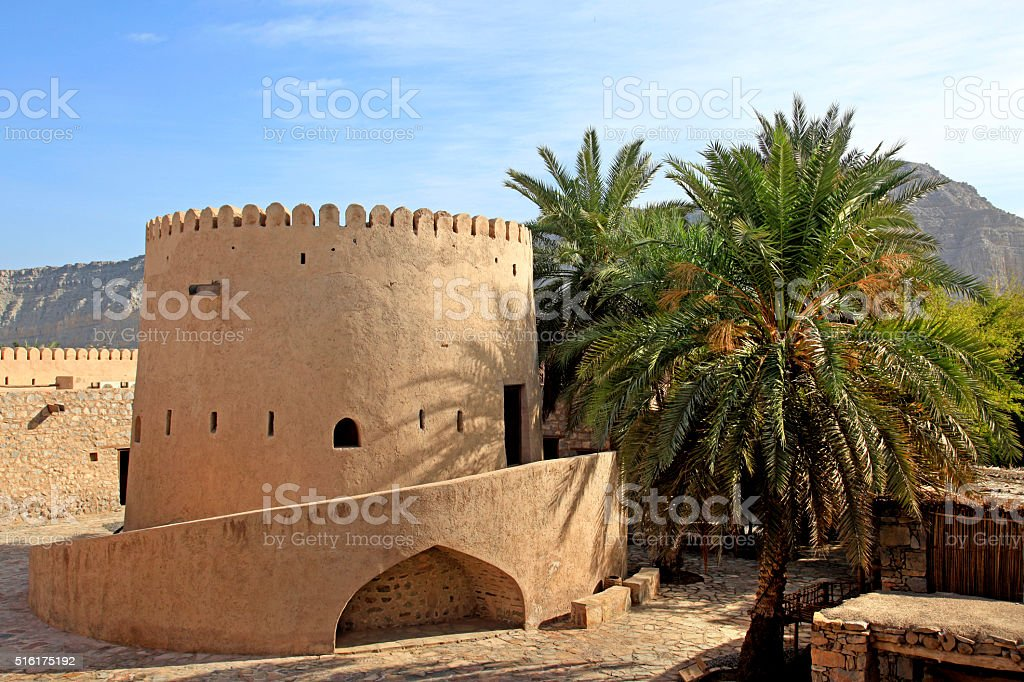 Khasab Fort, Musandam, Oman stock photo