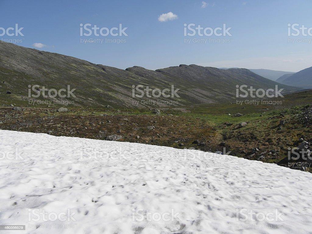 Khibiny mountains stock photo