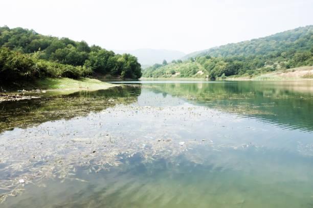 Khinalug Village in Azerbaijan stock photo