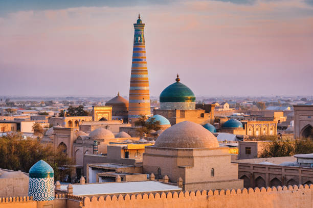 Khiva Sunset Twilight Xiva Хива Islam Khoja Minaret Uzbekistan