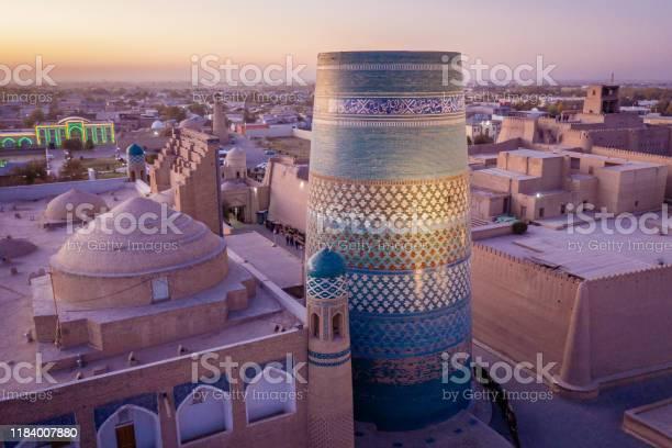 Khiva Sunset Uzbekistan Kalta Minor Stock Photo - Download Image Now