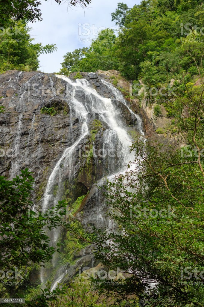 Khlong Lan Waterfall, Beautiful waterfalls in khlong Lan national park of Thailand at KamphaengPhet Province in Thailand. royalty-free stock photo