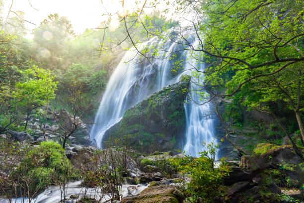 Khlong Lan waterfall, Kamphaeng Phet province, Thailand stock photo