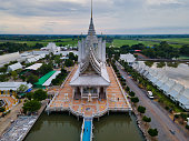 istock Khlong Luang Pang Subdistrict, Chachoengsao. Thailand / July 12,2020. Wat Veerachote Thammaram.  Its area of 36 rai provides peaceful atmosphere, which is surrounded by rice fields. 1276986581