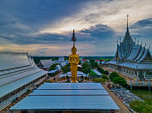 istock Khlong Luang Pang Subdistrict, Chachoengsao. Thailand / July 12,2020. Wat Veerachote Thammaram.  Its area of 36 rai provides peaceful atmosphere, which is surrounded by rice fields. 1277168198
