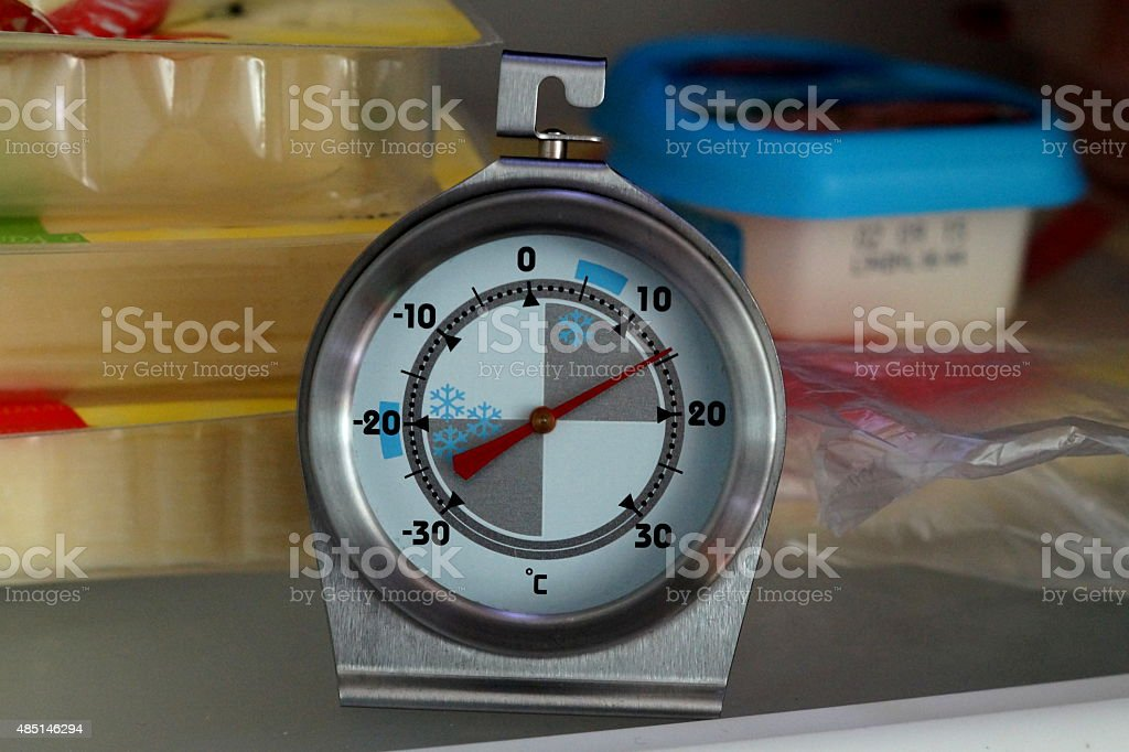 Kühlschrank Thermometer stock photo