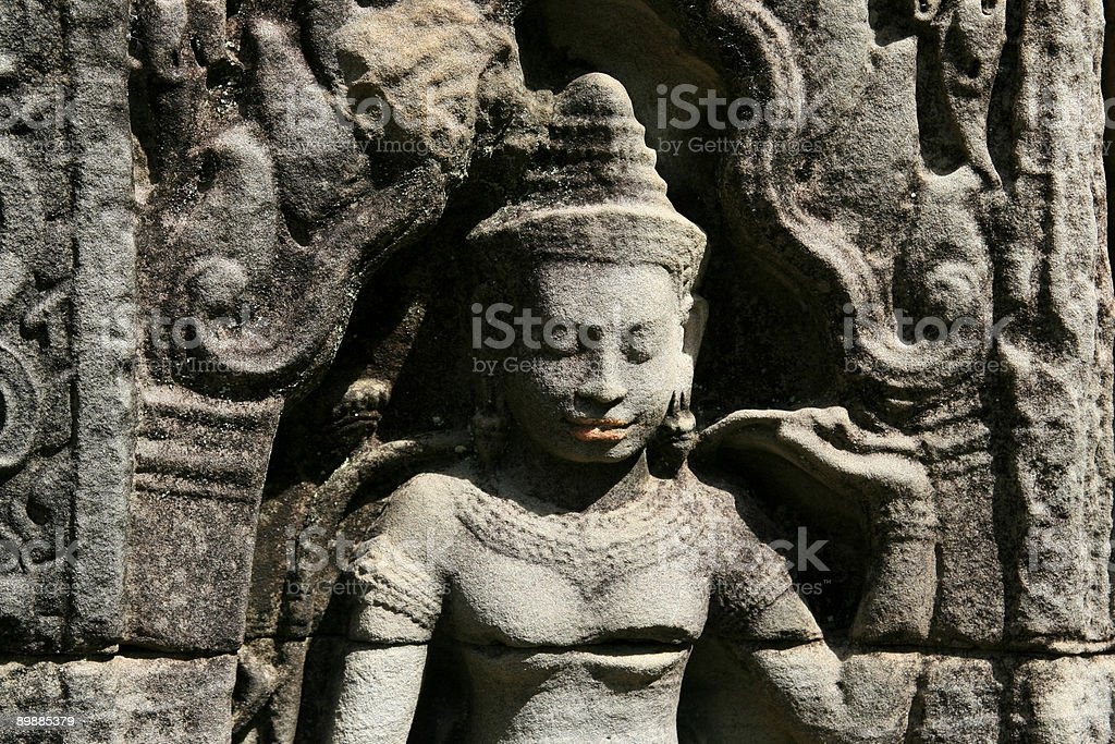 Khmer Carving royalty-free stock photo