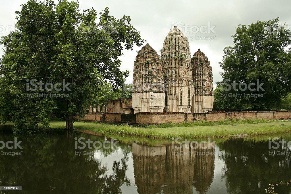 khmer prangs sukothai historic park royalty-free stock photo