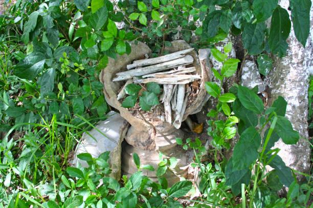 Khmer rouge killing field stock photo