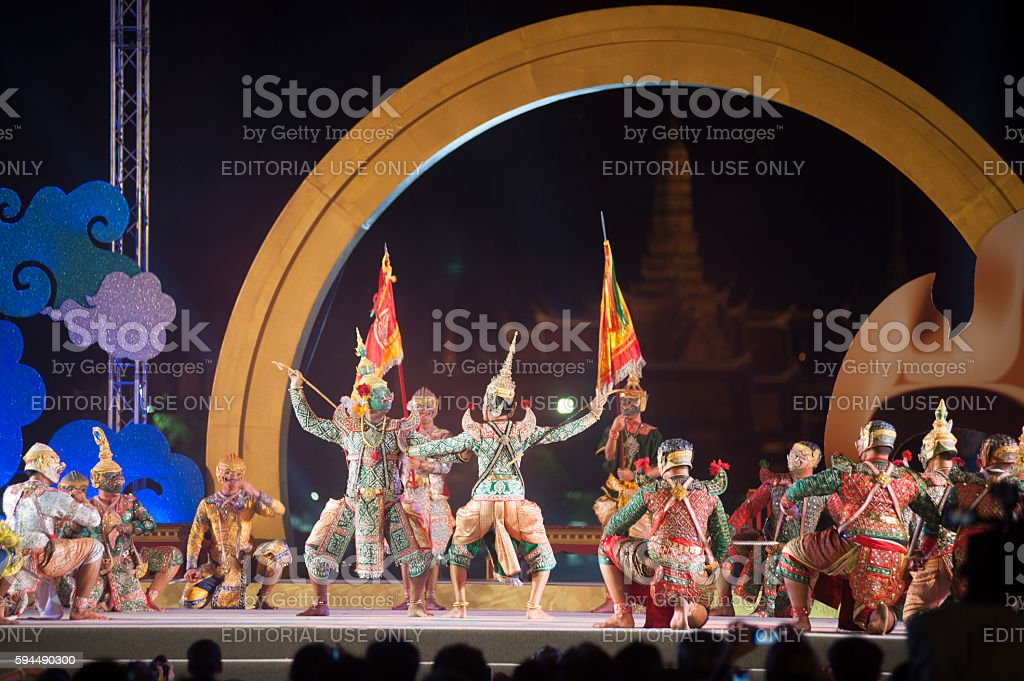Khon Is Traditional Dance Drama Art Of Thailand Stock Photo - Download  Image Now