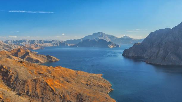Khor Najd. Fantastische Berglandschaft. Ru ' us al Jibal. Al Hajar Moutains. Musandam. Oman – Foto