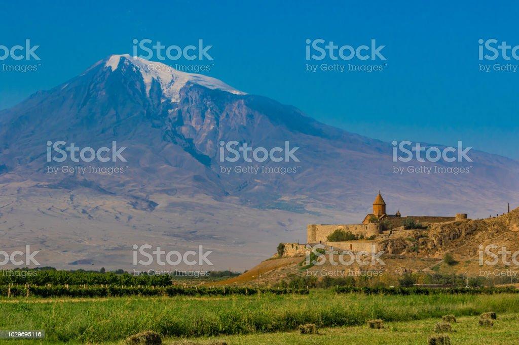 Khor Virap, Armenia stock photo