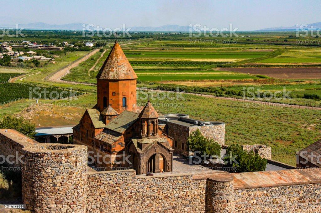 Khor Virap monastery, Armenia stock photo
