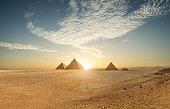 Khufu pyramid and empty square, Cairo, Egypt