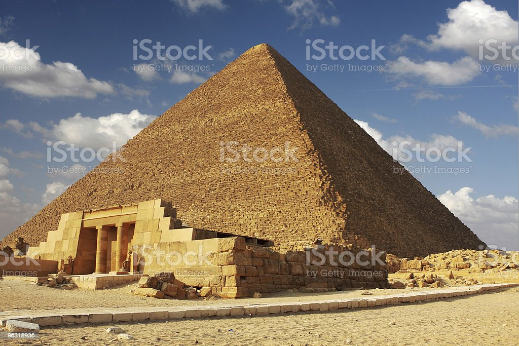 khufu pyramid stock photo