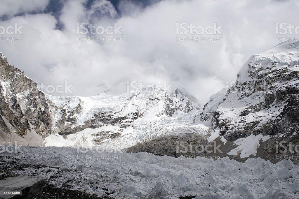 Khumbu Glacier stock photo
