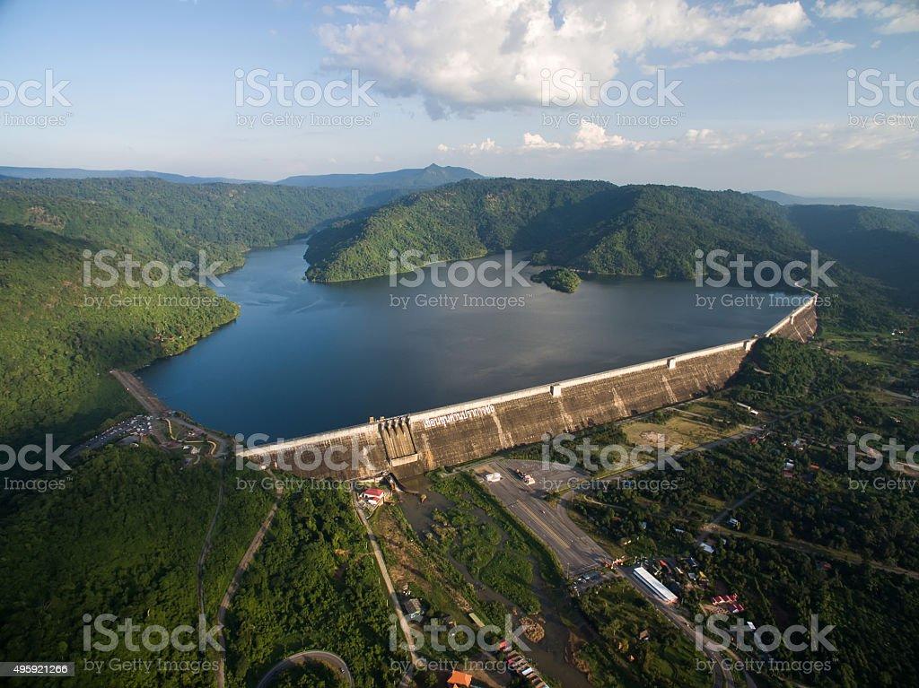 Khun Dan Prakan Chon Dam stock photo