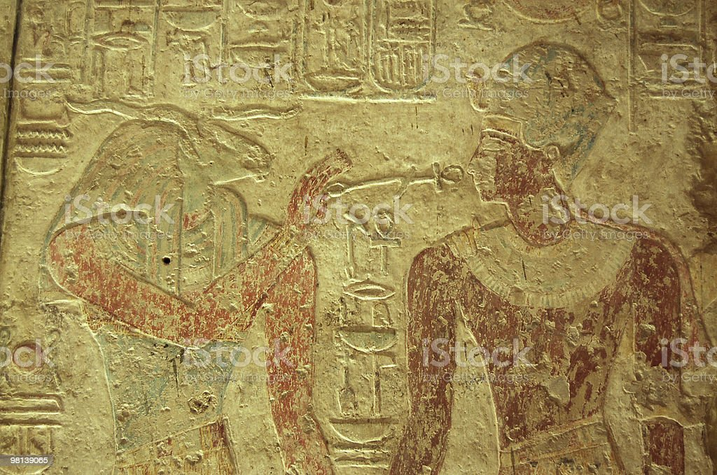 Khunum and Pharoah Ramses II royalty-free stock photo