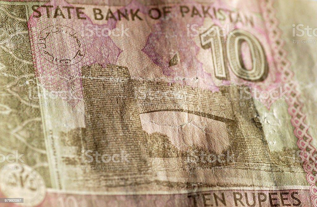 Khyber Pass, Peshawar Pakistan banknote royalty-free stock photo
