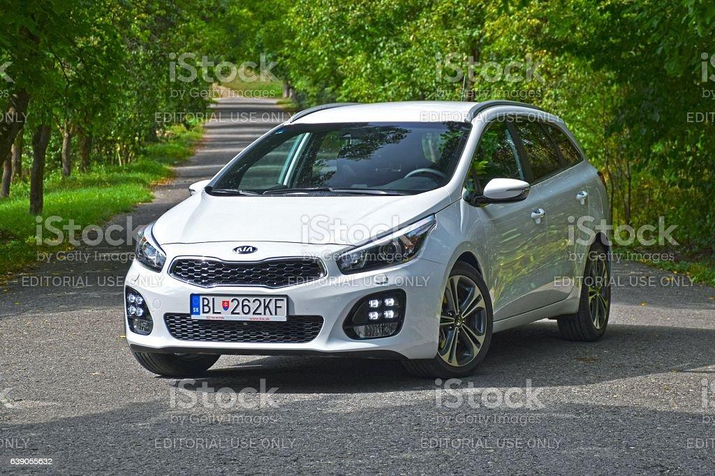 Kia cee'd - compact car stock photo