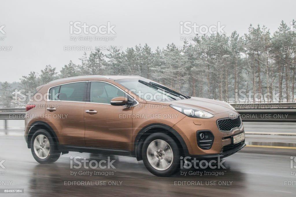 Kia Sportage stock photo