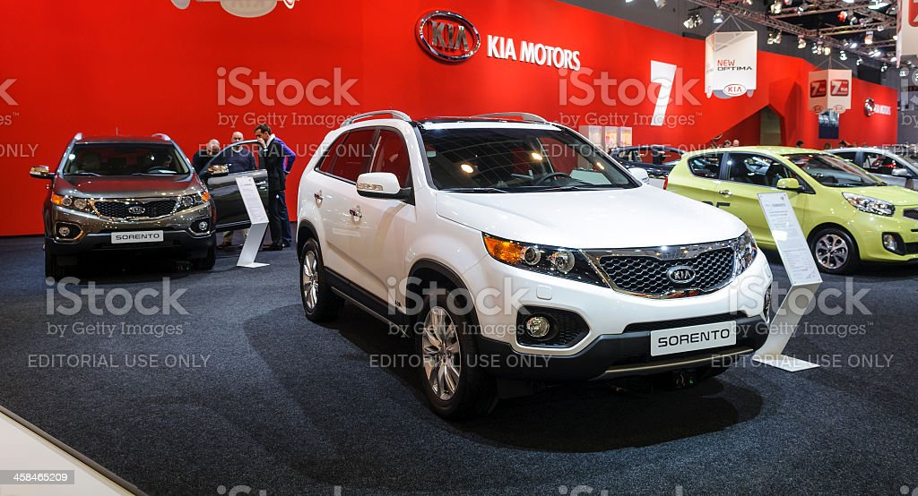 Kia stand royalty-free stock photo