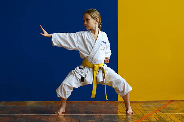kiba dachi - karate stock photos and pictures