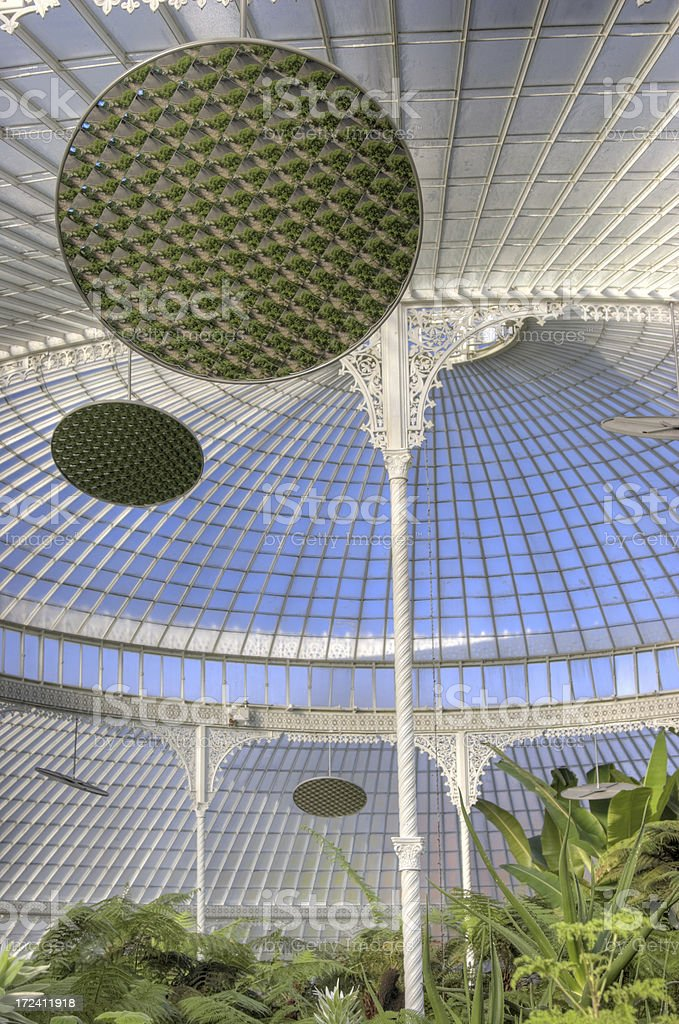 Kibble Palace Mirrors royalty-free stock photo