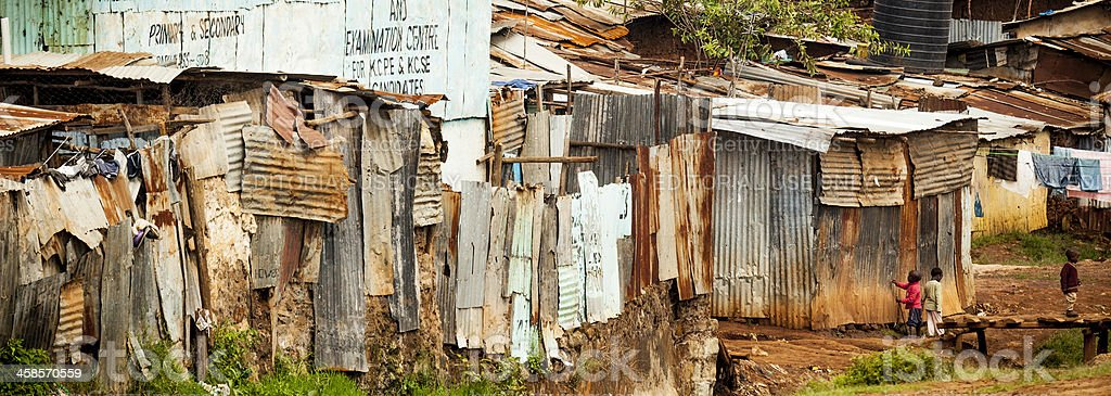 Kibera, a Neighborhood in Nairobi, Kenya royalty-free stock photo