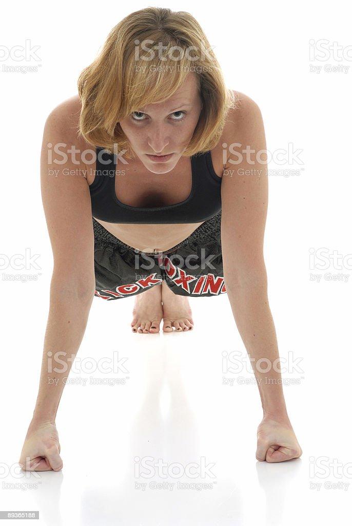 Kicboxer de musculation photo libre de droits