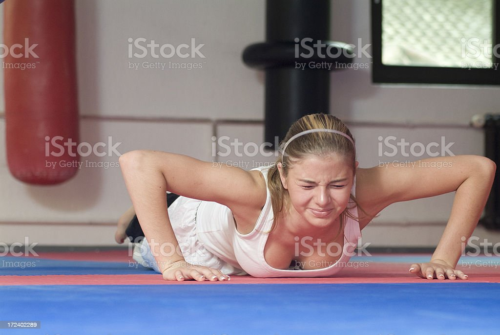 Kick Boxing Series royalty-free stock photo