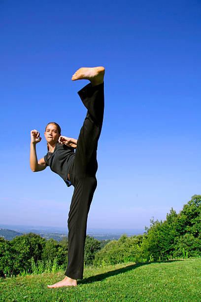 Female Karate Feet Stock Photos, Pictures & Royalty-Free