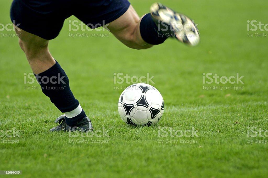 kick the ball royalty-free stock photo