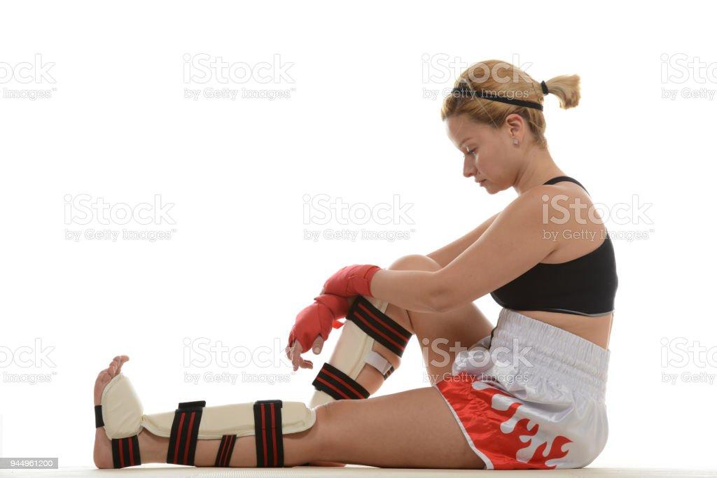 Kickboxing Break stock photo