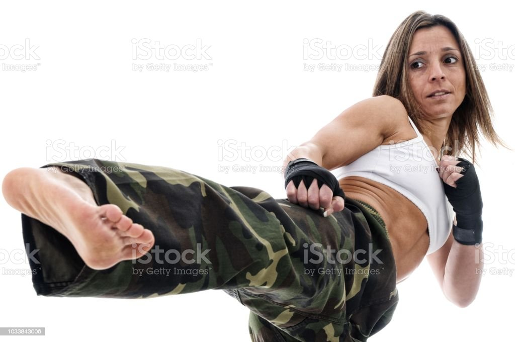 Kickboxing Fitness stock photo