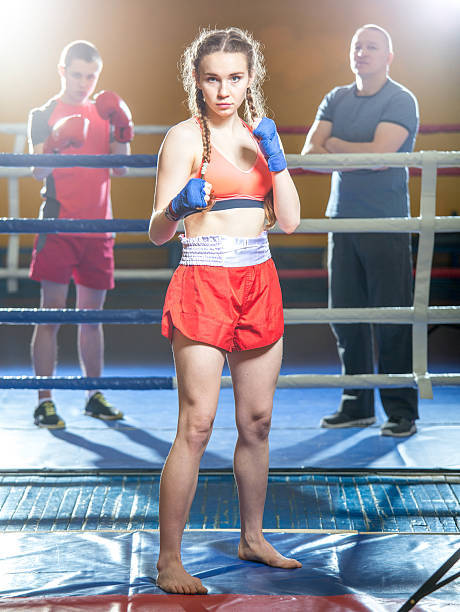 Kickboxing Girl stock photo