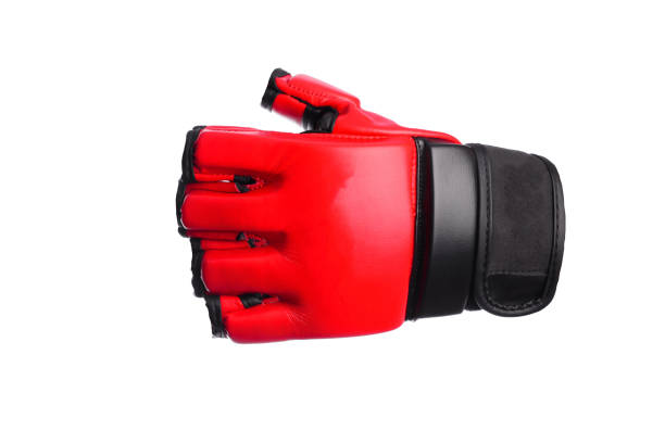Kick-boxing gloves isolated on the white isolated stock photo