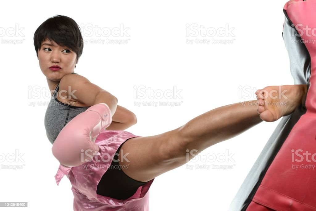 Kickboxing Power stock photo