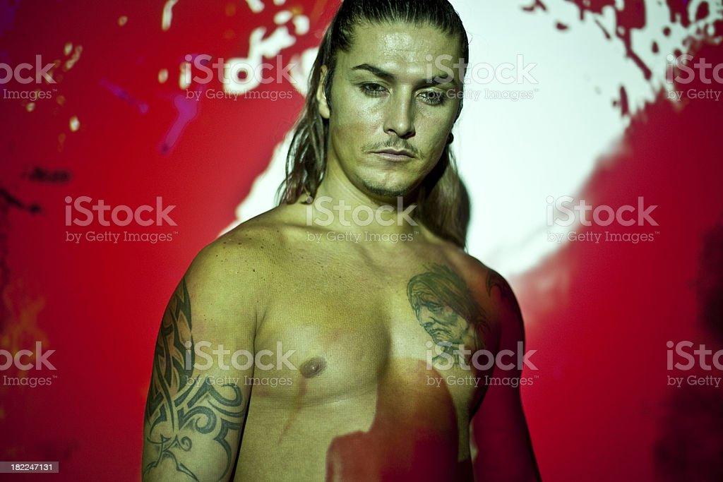 Kickboxing series stock photo