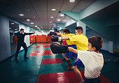 kickboxing training for child