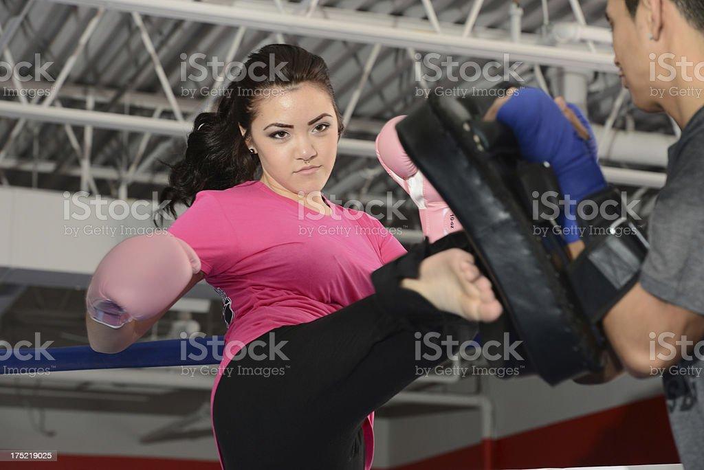 Kickboxing Training (Gym) royalty-free stock photo